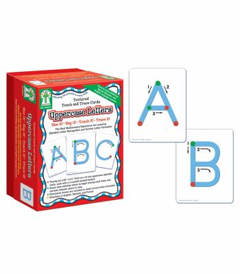 Textured Touch and Trace: Uppercase: The Best Multisensory Experience for Learning Alphabet Letter Recognition and Correct Letter Formation 9781933052595