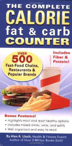 The Complete Calorie Fat & Carb Counter 9781934386347