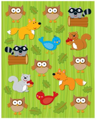 Woodland Animals Shape Stickers 9781936022021