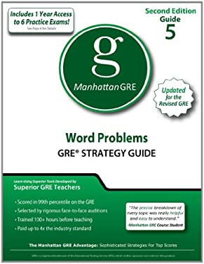 Word Problems GRE Strategy Guide 9781935707547