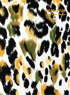 2020-2024 Five Year Planner: Five Year Monthly Planner 8.5 x 11 with Hardcover (Leopard Texture)