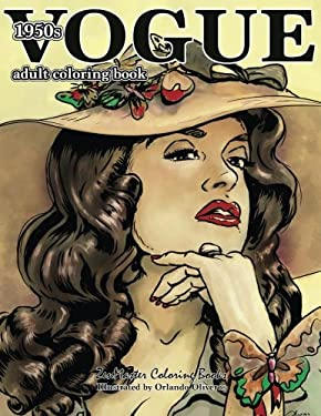 Vogue 1950s Adult Coloring Book: 50s Fashion Coloring Book for Adults (Coloring Books for Grownups) (Volume 64)