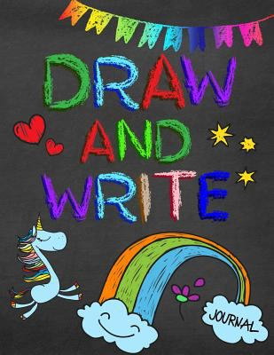 Draw And Write Journal: Creative Writing Drawing Journal For Kids (Half Page Lined Paper With Drawing Space)(8.5 x 11 Notebook)(V17)
