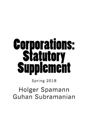 Corporations: Statutory Supplement