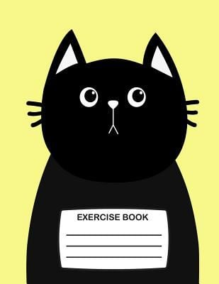 Exercise Book: Cute Exercise Book for Kids with Black Cat On Cover, 80 Lined Pages, School Exercise Book for Children A Notebook for Writing (Fun Exer