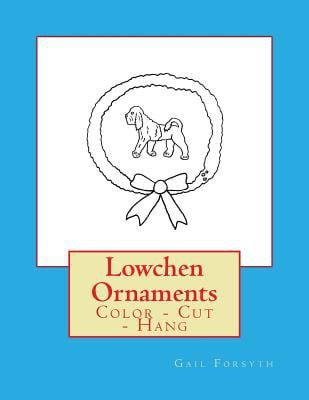 Lowchen Ornaments: Color - Cut - Hang
