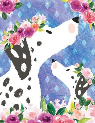 My Big Fat Journal Notebook For Dog Lovers Dalmatians In Flowers: 300 Plus Pages, Jumbo Sized Plain, Blank Unlined Journal Notebook For Journaling, ..