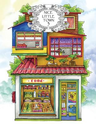 Adult Coloring Book: Nice Little Town (Volume 3)