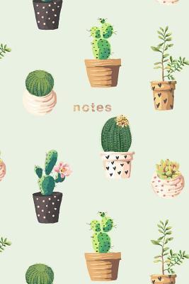 Cactus Notebook: 175-page Cactus Design Notebook: 6x9 Alternating Blank and Ruled Cactus Notebook (Cactus Notebooks) (Volume 1)