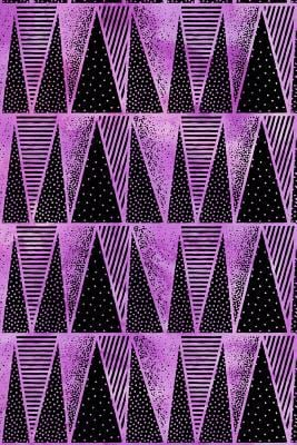 Journal Notebook Abstract Triangles Pattern 9: 162 Lined and Numbered Pages With Index For Journaling, Writing, Planning and Doodling, For Women, Men,