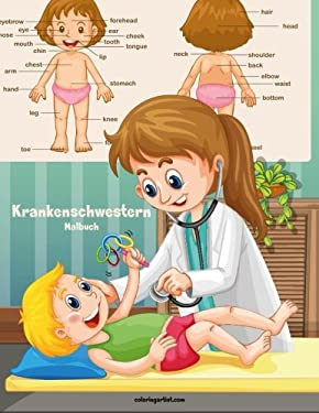 Krankenschwestern-Malbuch 1 (Volume 1) (German Edition)
