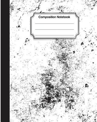 Composition Notebook: College Ruled School Notebooks, Subject Daily Journal Notebook : 120 Lined Pages (8 x 10 in.) : Abstract Black Background Cover