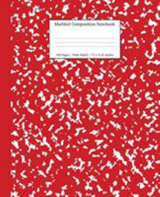 Marbled Composition Notebook: Red Marble Wide Ruled Paper Subject Book (School Essentials)