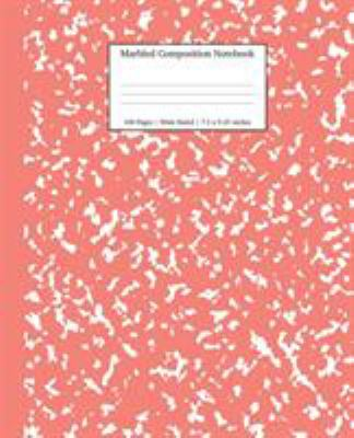 Marbled Composition Notebook: Coral Pink Marble Wide Ruled Paper Subject Book (School Essentials)