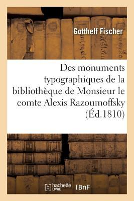 Notice des monuments typographiques (French Edition)