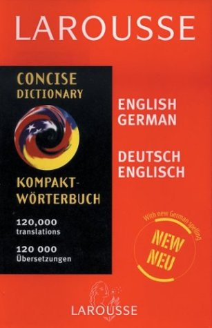 Larousse Concise German/English English German Dictionary 9782035400147