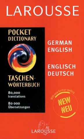Larousse Pocket German/English Dictionary 9782035400192