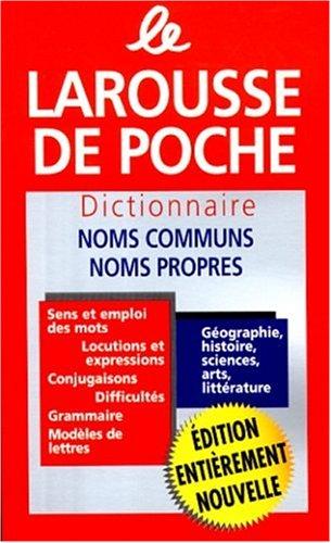 Larousse de Poche: Dictionnaire Des Noms Communs/Nom Propres 9782033202057