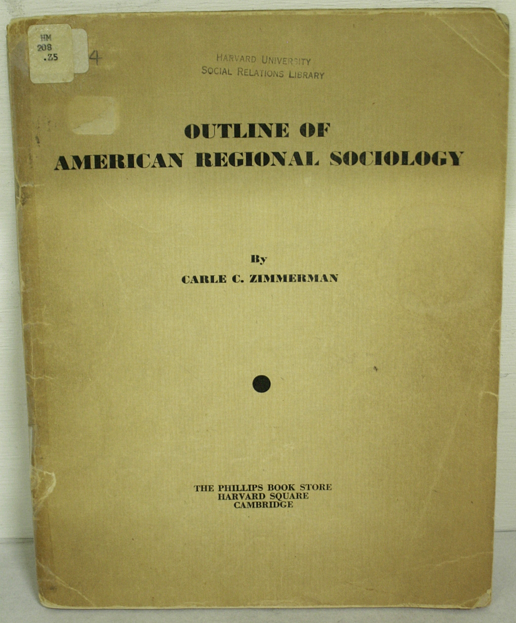 Outline of American regional sociology. BWB20509504