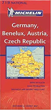 Michelin Map; Germany, Benelux, Austria, Czech Republic (Michelin National, No. 719)  (English and German Edition) 9782061005576