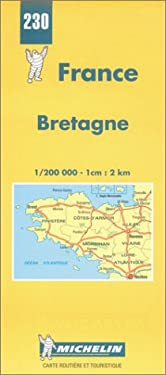 Bretagne-Michelin Map #230 9782067002302