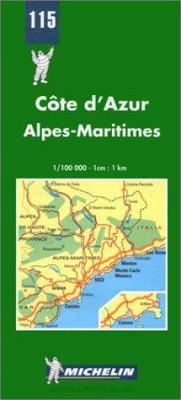 Carte Routiere Et Touristique Michelin: 1:100 000-1 CM.:1 Km. = French Riviera: 1:100 000-1 CM.:1 Km. 9782067001152