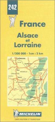France Regional Alsace Et Lorraine-Michelin Map #242 9782067002425
