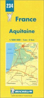 France Regional Aquitaine-Michelin Map #234 9782067002340