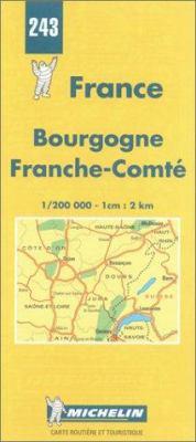France Regional Bourgogne-Franche Comte-Michelin Map #243 9782067002432