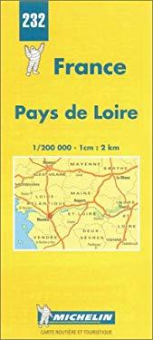 France Regional Loire Region-Michelin Map #232 9782067002326
