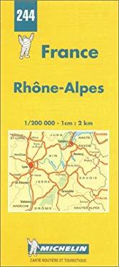 France Regional Rhone-Alpes-Michelin Map #244 9782067002449