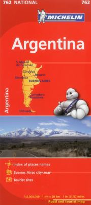 Michelin Argentina Map 762 9782067173347