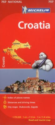 Michelin Croatia Road and Tourist Map 9782067173064