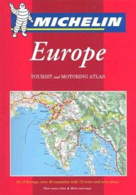 Michelin Europe: Tourist and Motoring Atlas 9782067106611
