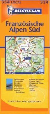 Michelin France: Alpes-de-Haute-Provence, Hautes-Alpes Map No. 334 9782061003954