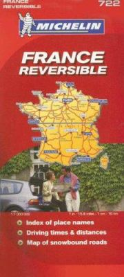 Michelin France Reversible Map 9782067123168