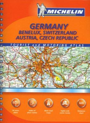 Michelin Germany, Benelux, Switzerland, Austria, Czech Republic 9782067124233
