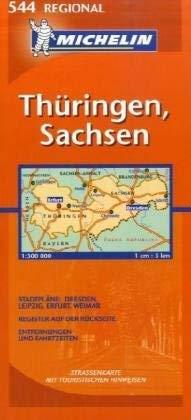 Michelin Germany Mideast: Thuringen, Sachsen Map 9782067119949