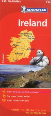Michelin Ireland Road and Tourist Map 9782067170209