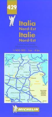 Michelin Italie Northeast Map #429 9782061000236