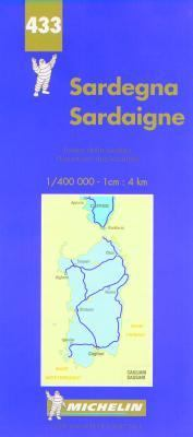 Michelin Italie Sardaigne Map #433 9782061000243