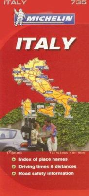 Michelin Italy Map 9782067123113