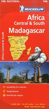 Michelin Map Africa Central South and Madagascar 746 9782067172500