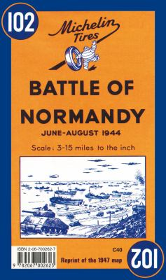 Michelin Map Battle of Normandy 102 9782067002623
