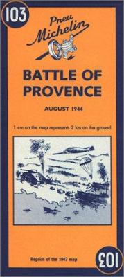 Michelin Map Battle of Provence 9782067002630