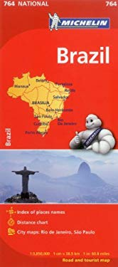 Michelin Map Brazil 764 9782067173484