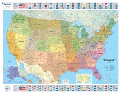 Michelin Map USA Political 14761 (P, Rolled) 9782061011300