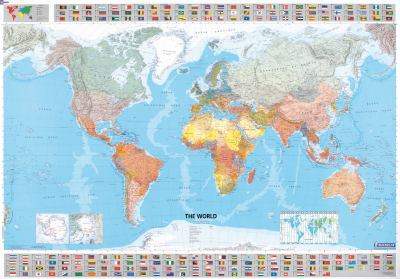 Michelin Map the World 13701 (Laminated, Rolled) 9782061010716