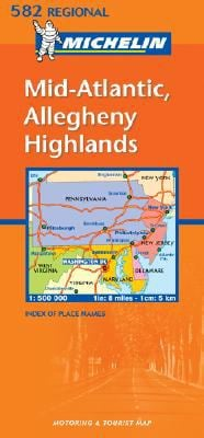 Michelin Mid-Atlantic, Allegheny Highlands: 582 Regional USA