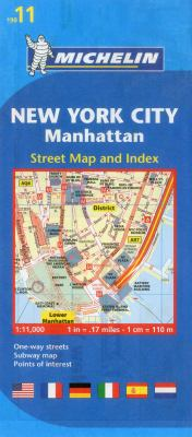 Michelin New York City Manhattan Street Map and Index 9782067173750